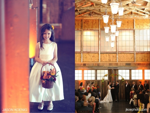 JKoe Photography Christopher Flowers wedding ceremony orchid rose copper Seattle Sodo Park reception