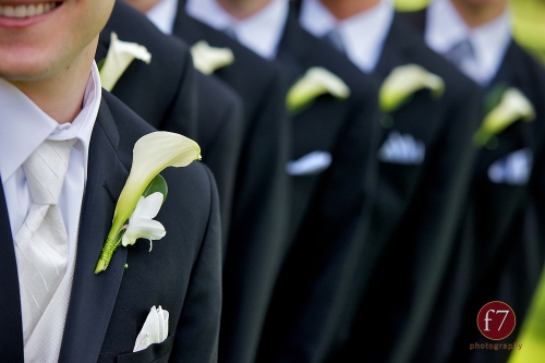 f7 Photography Christopher Flowers wedding Seattle boutonniere white calla orchid