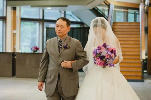 Dale Tu Photography Christopher Flowers Seattle Wedding Bouquet Bridal Pink Purple Lavender Rose Peony Orchid