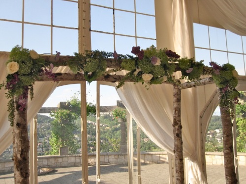 Christopher Flowers wedding ceremony birch natural organic green hydrangea lilac garden rose Seattle