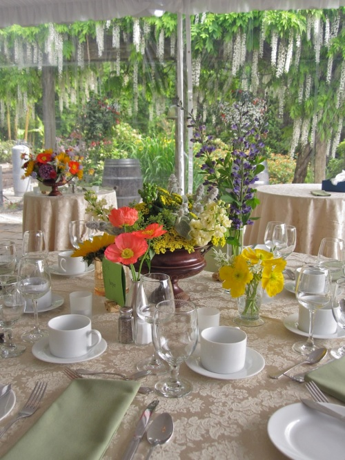 Christopher Flowers Wedding Centerpiece Wildflower Winery Poppies Organic