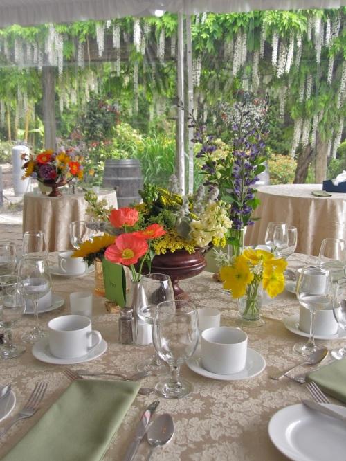 Christopher Flowers Wedding Centerpiece Wildflower Winery Poppies Organic