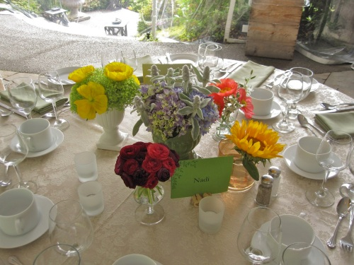 Christopher Flowers Wedding Centerpiece Wildflower Winery Poppies Ranunculus Organic