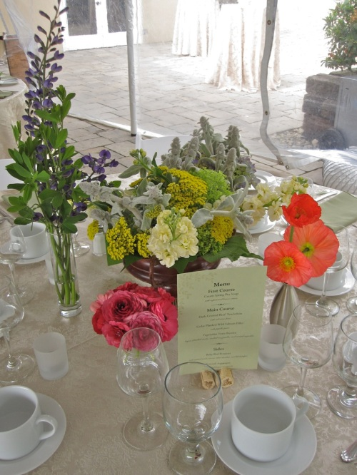 Christopher Flowers Wedding Centerpiece Wildflower Winery Poppies Ranunculus Organic