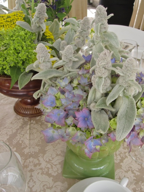 Christopher Flowers Wedding Centerpiece Wildflower Winery Poppies Hydrangea Organic