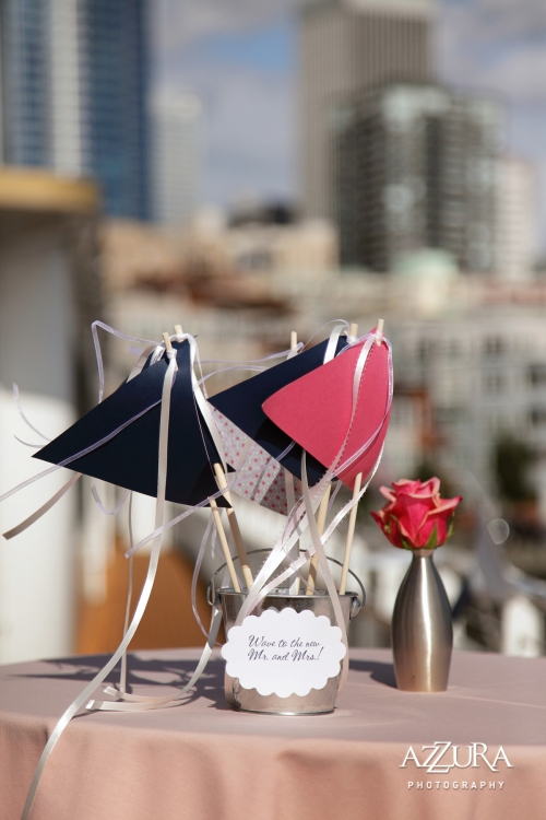 Azzura Photography Christopher Flowers wedding waterfront beach nautical floral Seattle raspberry coral white navy