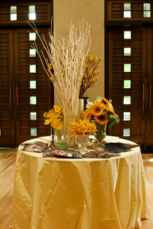 John Ulman Christopher Flowers event floral yellow seattle museum frye gold modern sunflowers orchids poppies