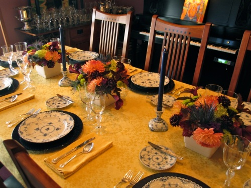 Christopher Flowers Seattle floral design party dahlias hydrangea thistle fall