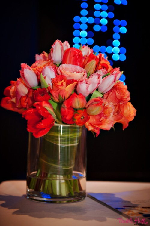 Christopher Flowers bouquet coral pink orange tulip rose ranunculus