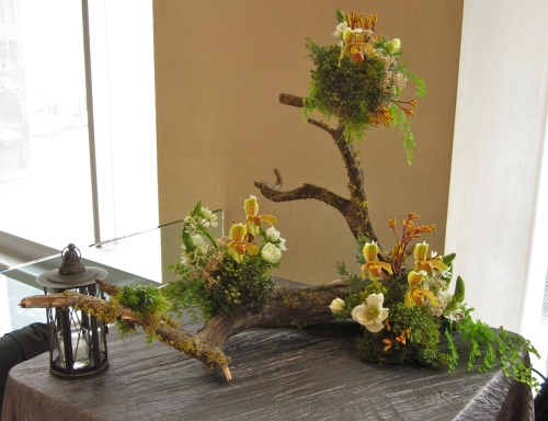 Christopher Flowers woodland northwest orchid moss fern anemone exotic natural event wedding seattle