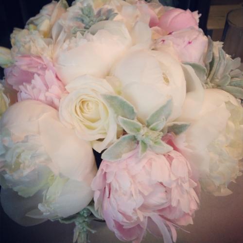 Christopher Flowers wedding blush ivory grey gray peony