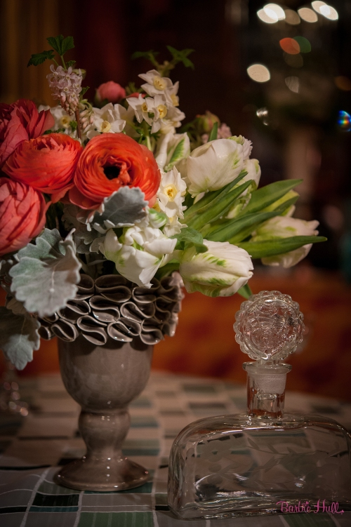 Barbie Hull Photography Christopher Flowers wedding vintage paris french art-deco ranunculus rose tulip white peach orange romantic