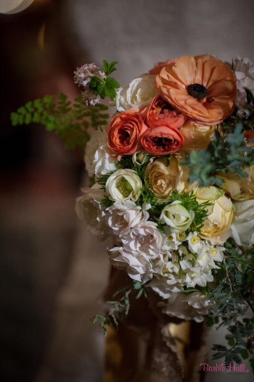 Barbie Hull Photography Christopher Flowers wedding vintage paris french art-deco ranunculus rose tulip white peach orange romantic bouquet
