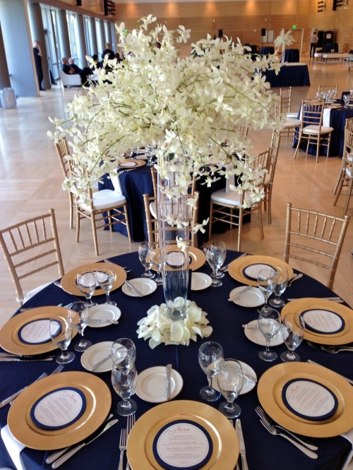 Christopher Flowers Seattle wedding white summer rose hydrangea lily orchid centerpiece