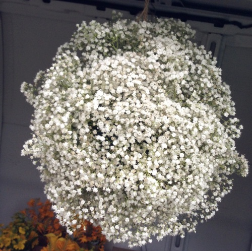 Christopher Flowers Seattle wedding white baby's breath gypsophila pomander ball ceremony