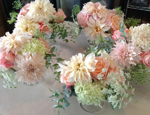 Christopher Flowers wedding peach ivory grey dahlia garden rose county antique vintage organic