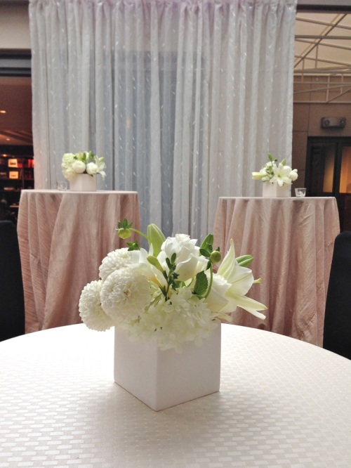 lily, white, event, modern, Christopher Flowers, wedding, Seattle
