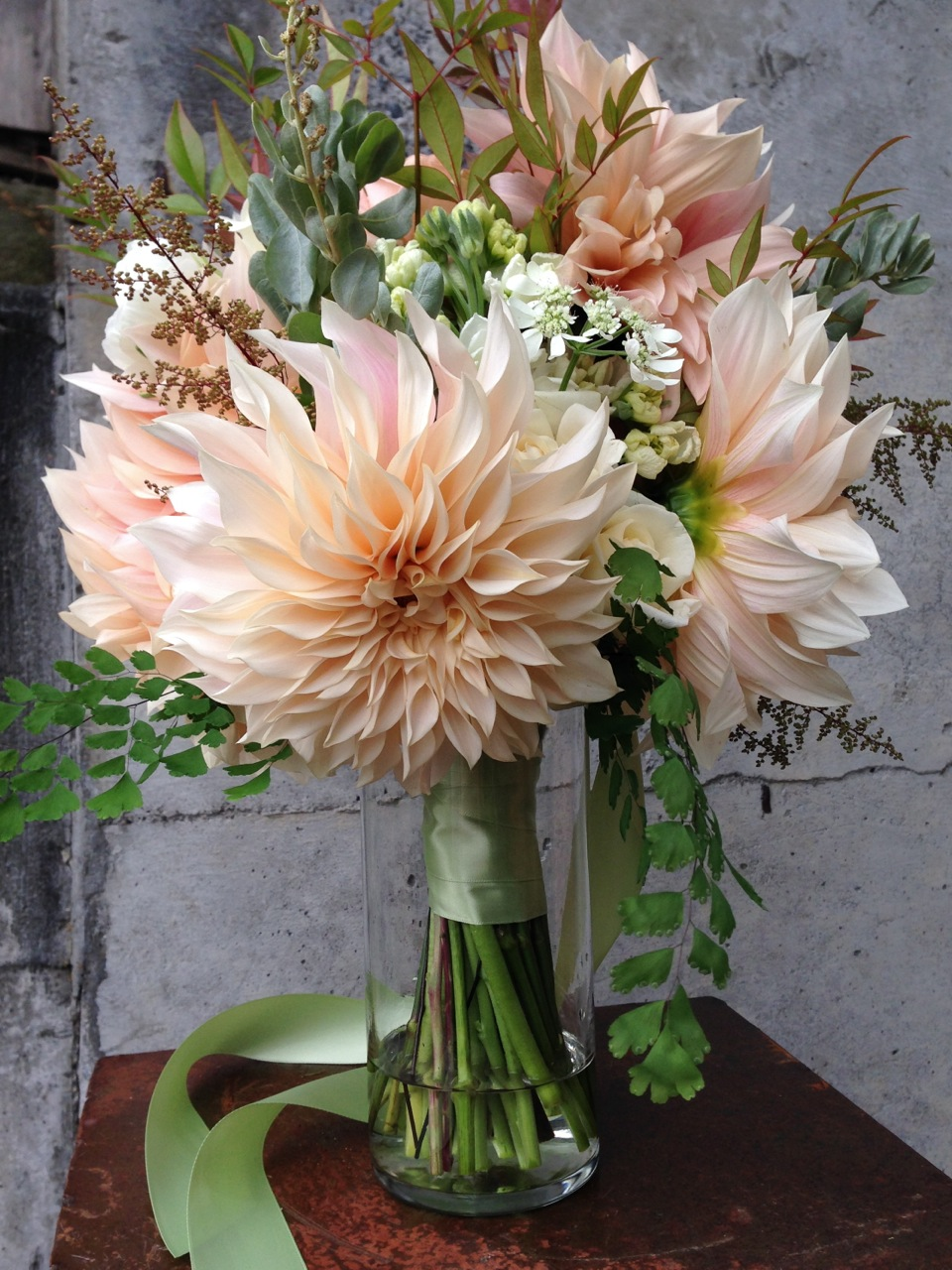 Organic christopher knits page 3 bouquet dahlia cafe au lait peach cream flower floral christopher flowers organic local design izmirmasajfo