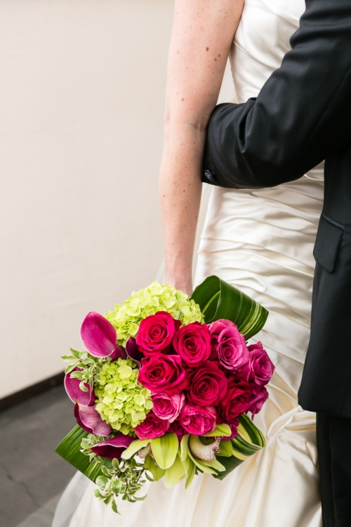 wedding flowers seattle christopher flowers eliza truitt photography raspberry magenta modern calla rose green sodo park ranunculus orchid