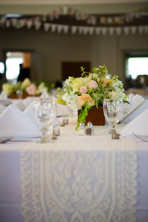 Christopher Flowers Seattle wedding garden rose pink ivory peach dahlia hydrangea northwest park centerpiece