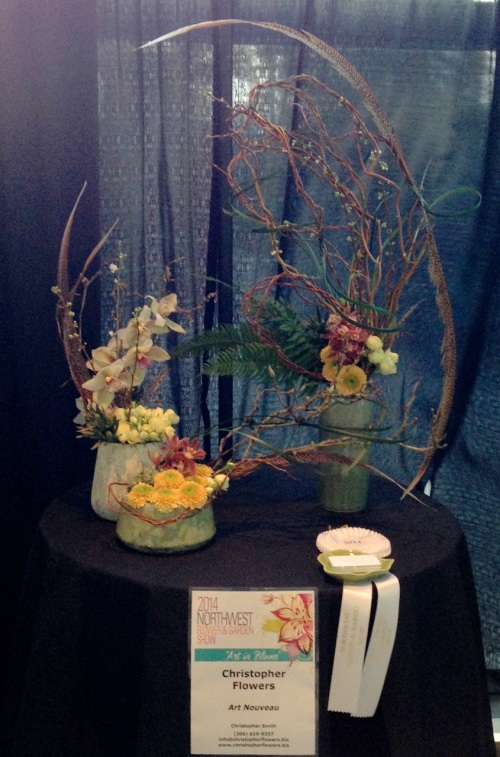 christopher flowers floral design seattle art nouveau northwest flower garden show local organic sustainable