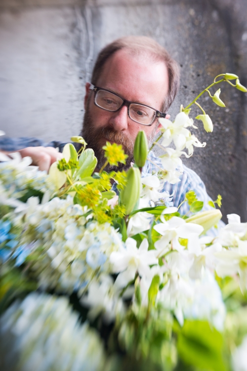 event party flowers white green blue ranunculus anemone hydrangea orchid christopher flowers seattle
