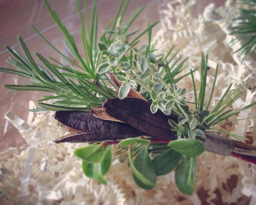 Christopher Flowers Seattle boutonniere herbs natural garden organic green pod