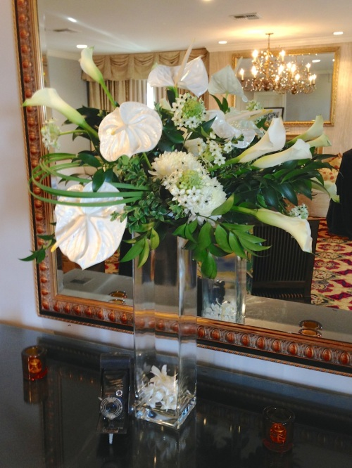 Christopher Flowers Seattle orchids art-deco party white green