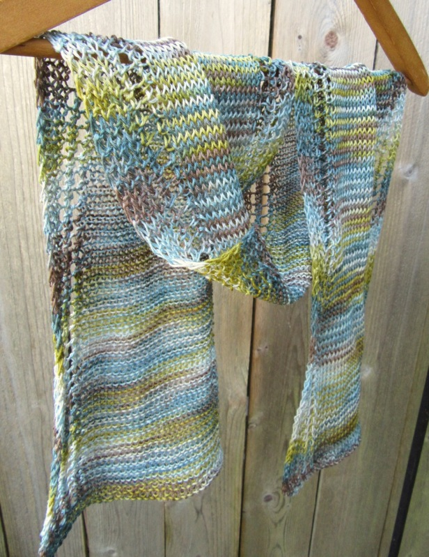 linen scarf knit knitted handmade natural vegan etsy