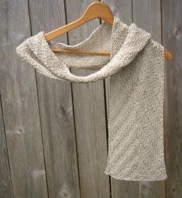 linen scarf natural vegan knit