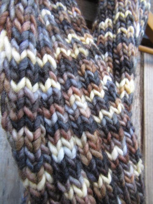 merino wool scarf handmade knit