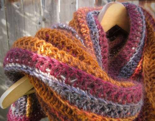 shawl crochet fall autumn alpaca silk wool handmade