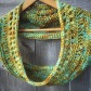 crochet cowl collar merino wool handmade christopher knits green aqua copper gold gift accessories etsy