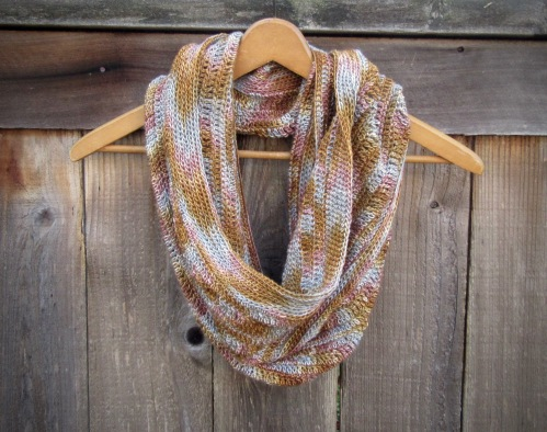 Crochet Cowl in Silk/Wool