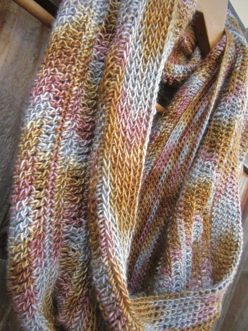 silk crochet gift accessories cowl scarf handmade
