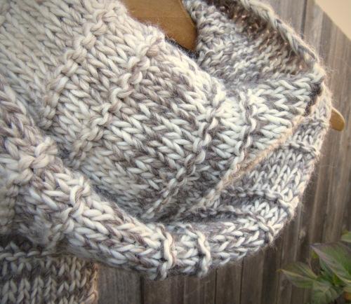 Undyed Baby Alpaca & Merino Wool Scarf