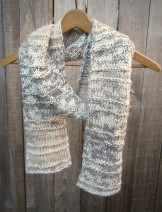 natural knit scarf accessories gift design handmade