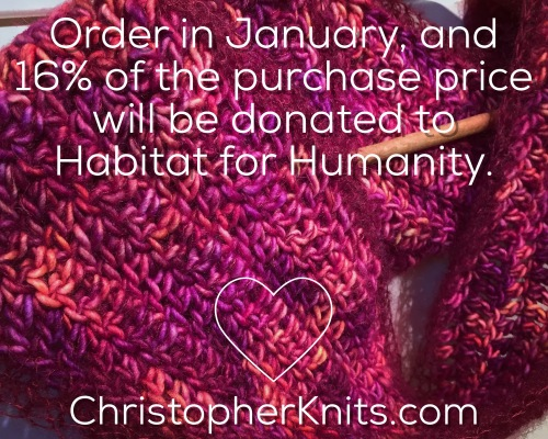 charity donation habitat for humanity christopher knits