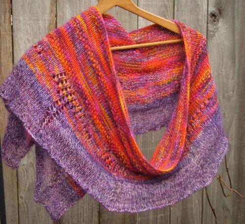 handmade shawl silk wool mohair valentine gift