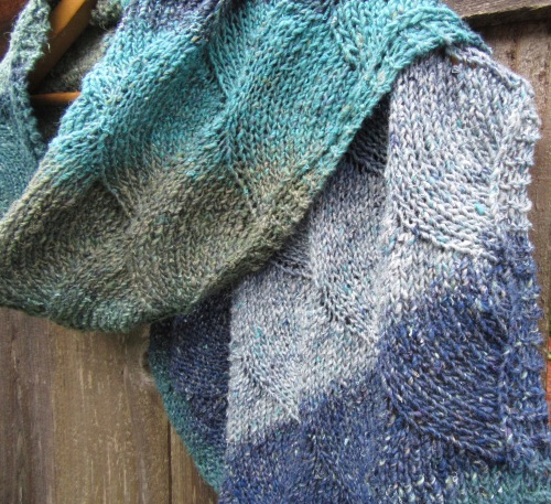 knit scarf handmade silk wool blue turquoise christopher knits etsy