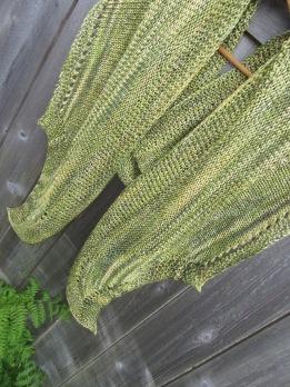 shawl silk knit handmade christopher knits green fern