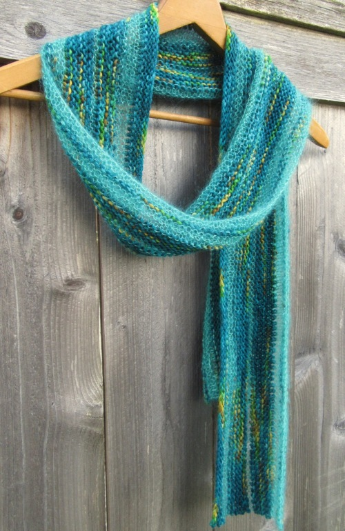 blue knit scarf silk yak mohair handmade etsy christopher knits