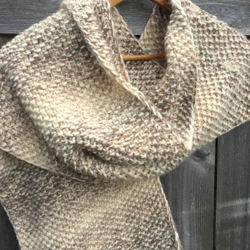 scarf handmade etsy neutral natural knit knitting