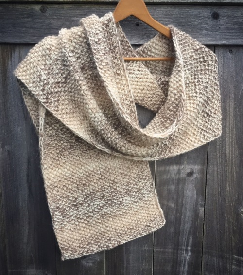 scarf knit neutral handmade
