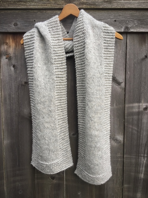 handmade etsy knitting gray scarf alpaca silk merino accessories