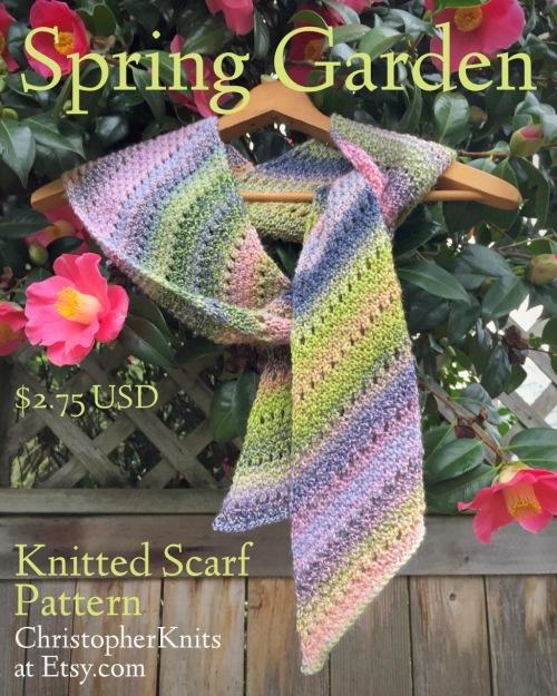 Spring Garden Scarf Pattern Christopher Knits